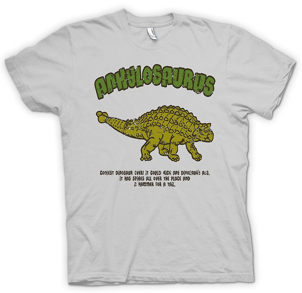 Herr T-shirt - Ankylosaurus - coolaste Dinosaur någonsin - hammare för en svans