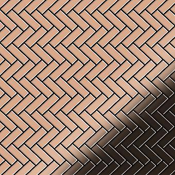 Metal mosaic Copper ALLOY Herringbone-CM