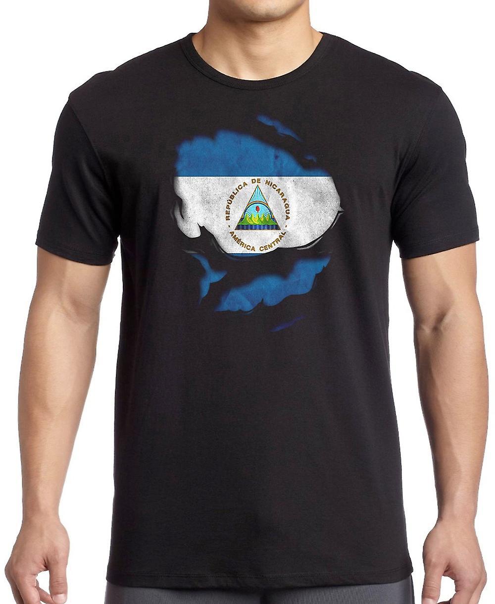 Nicaragua Ripped Effect Under Shirt T Shirt