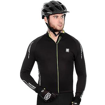 Altura Black-Hi Viz Yellow 2016 Peloton Night Vision Long Sleeved Cycling Jersey