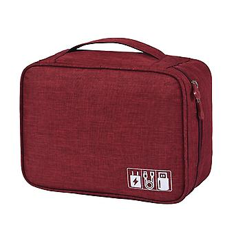 Electronics Bag, Red