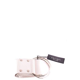 Orciani White Leather Belt