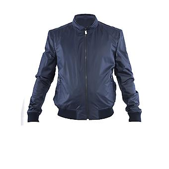 Corneliani Blue Polyester Outerwear Jacket