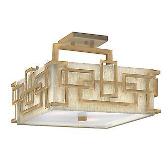 Stead-3 Light Semi Flush Mount-Brushed Bronze-HK/LANZA/SF BR