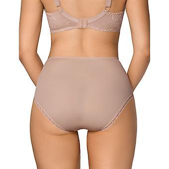 Nipplex Women's Tatiana Mocca Brown Lace Full Panty Highwaist Brief