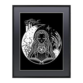 Grindstore White Witch Gloss Gloss Framed Mini Poster