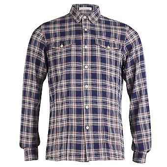 Firetrap Long-Sleeved Miner Classic Check Shirt, Ink, Small