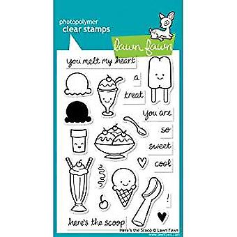 Lawn Fawn Clear Stamps Here's the Scoop (LF440)