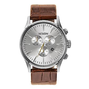 Nixon The Sentry Chrono Leather sella Gator (A4051888)