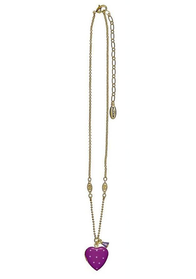 Pelgrim Damenkette gelukkig hart paars/goud (526601)