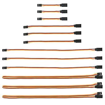 12 Pieces JR Extension Cable Extension 3 Pin Servo Cable 26AWG Futaba JR Male to Female Cable for RC