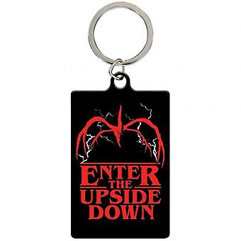 Stranger Things Metal Keyring Upside Down