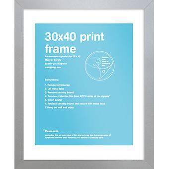 Eton Silberrahmen 30x40cm Poster / Frame drucken