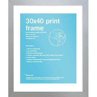 Marco de plata de Eton los 30x40cm Poster / impresión marco