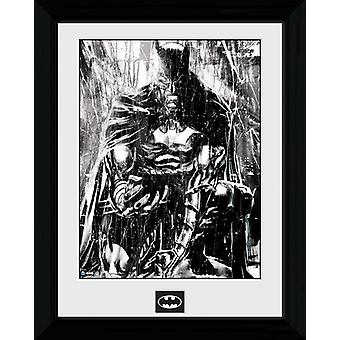 Batman Rain Framed Collector Print 40x30cm