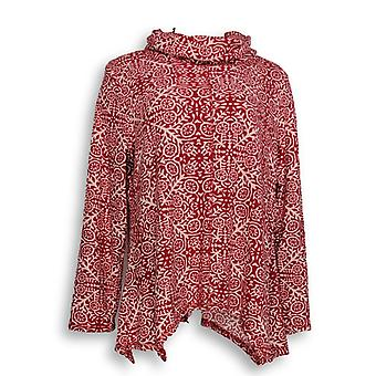 Carole Hochman Women's Sleepshirt Waffle Fleece Novelty Red A311258