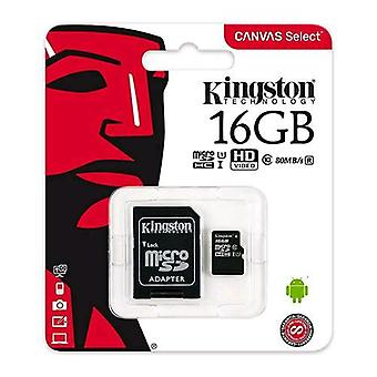 Kingston canvas select 16gb micro sdhc class 10 uhs-i with sd adapter
