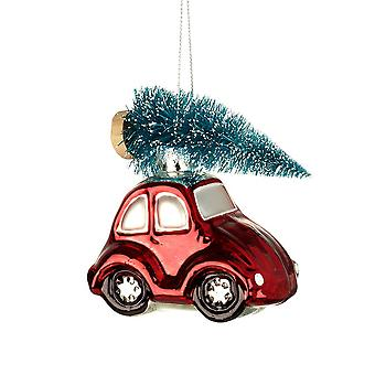 Colourful Small Car with Tree Hanging Decoration