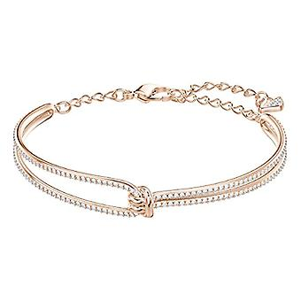 Swarovski Lifelong Rigid Women's Bracelet - White - Rose Gold Plate