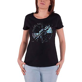 Pink Floyd T Shirt Machine Greeting Blue new Official Womens Skinny Fit Black
