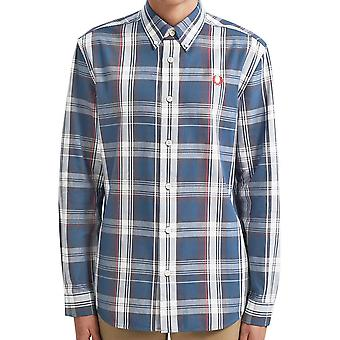 Fred Perry Authentic Midnight  Twill Check Shirt  M7567