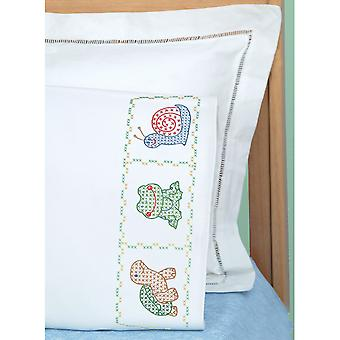 Children's Stamped Pillowcase With White Perle Edge 1 Pkg Froggy 1605 451