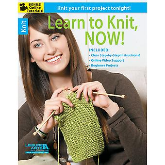 Leisure Arts Learn To Knit, Now La 5945