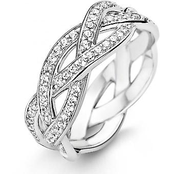 Ring Ti Sento 12025ZI - ring crystals white woman