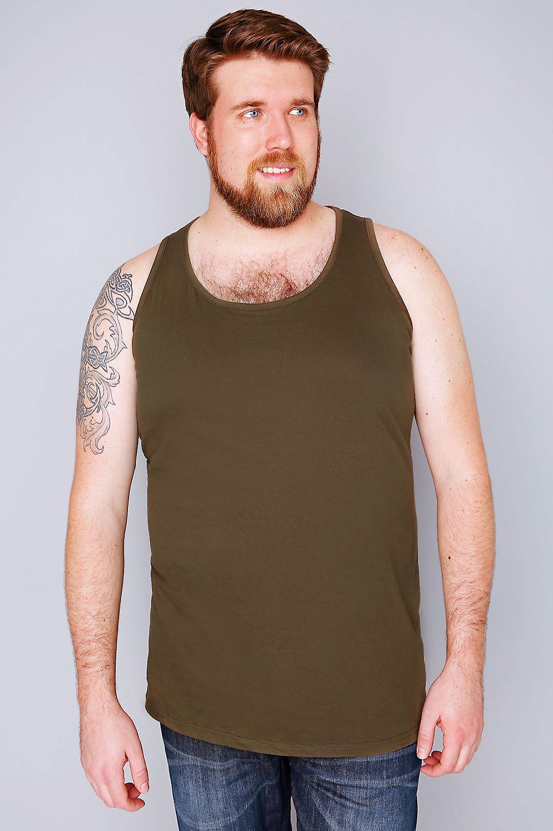D555 Khaki Crew Neck Vest