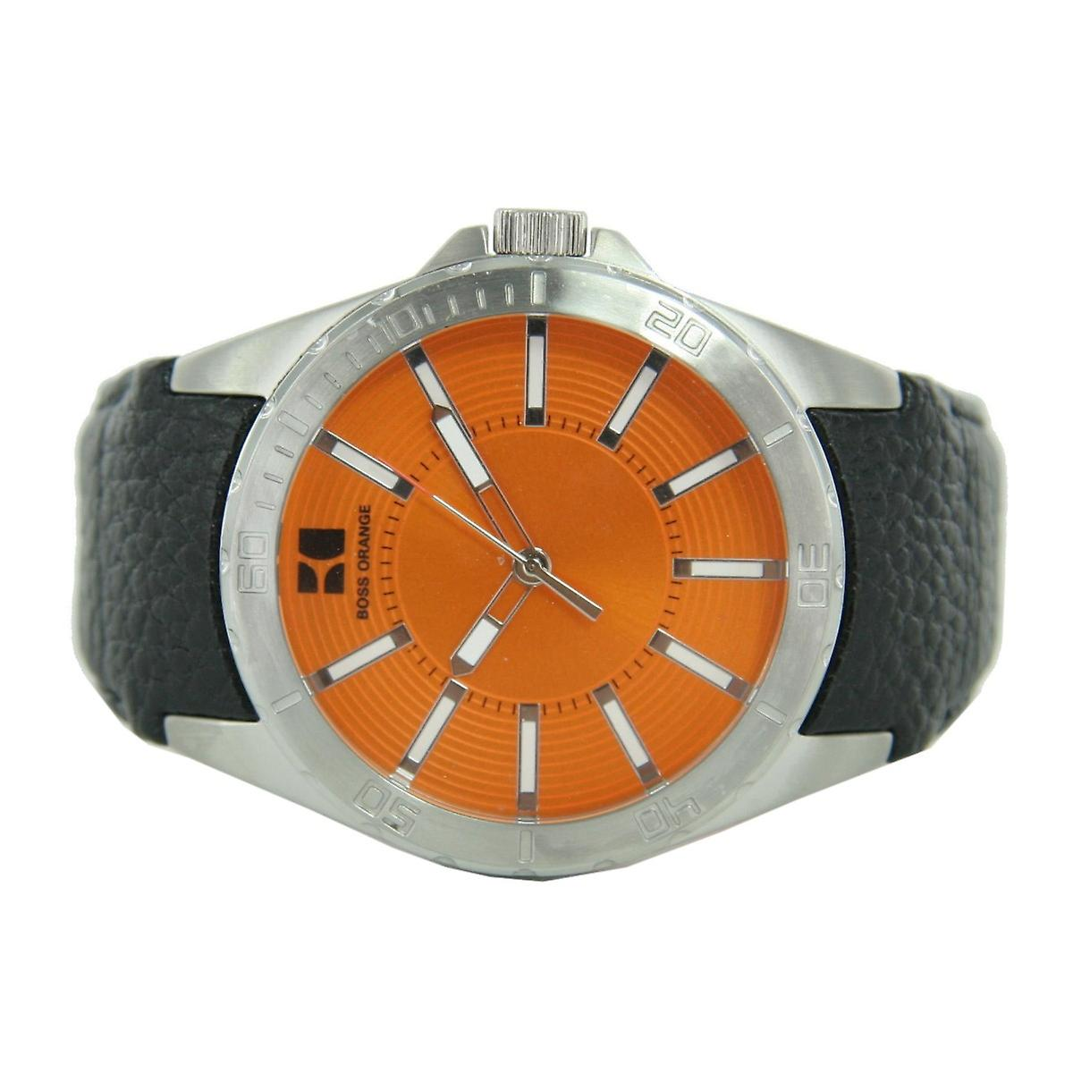 Hugo Boss Orange men clock leather 1512870