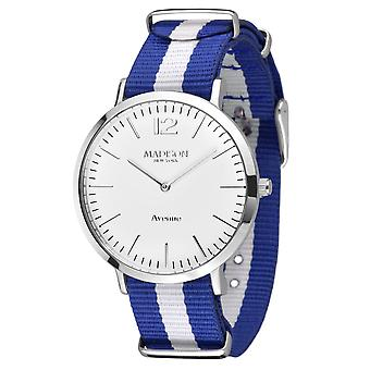MADISON NEW YORK Damen Uhr Armbanduhr Avenue Textil L4741F1