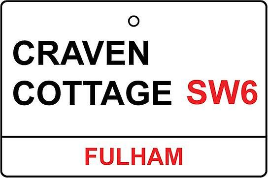 Fulham / Craven Cottage Street Sign Car Air Freshener