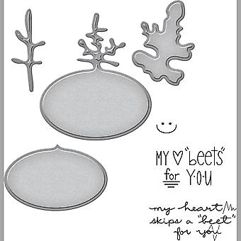 Spellbinders Stamp & Die Set-Beets Me SDS049