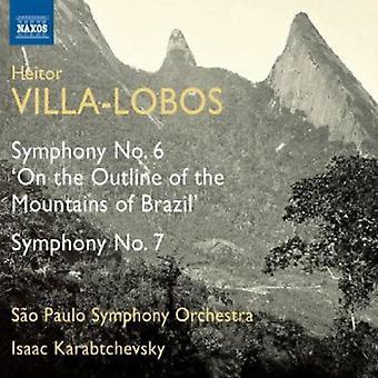 H. Villa-Lobos-Villa-Lobos: Symphonie n° 6 «sur le contour de la montagne du Brésil»; Symphonie n ° 7 [CD] USA import