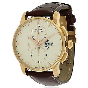 Mido Baroncelli Leather Chronograph Automatic Mens Watch M8607.3.11.82