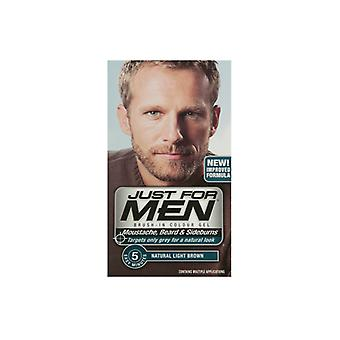 Just For Men 3 X Just For Men Brush In Colour Gel Natural Light Brown (M25)