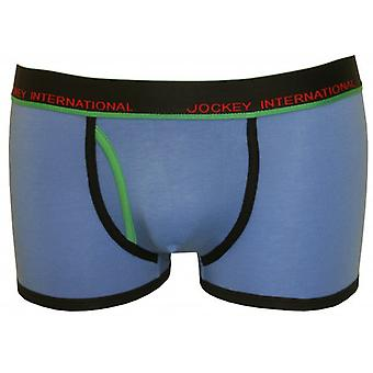 Jockey Fly-Front Boxer Trunk, Blue