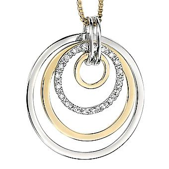 9 CT White Gold And Gold With Diamond Necklace
