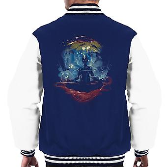 The Last Space Bender Avatar The Last Airbender Meditate Men's Varsity Jacket