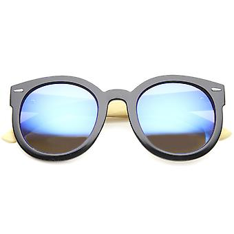 Womens Oversized Sunglasses With UV400 Protected Mirrored Lens