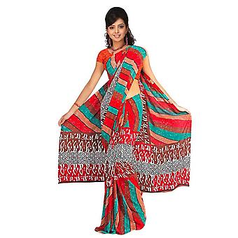 Dyuti Georgette afgedrukt Casual Saree Sari buikdansen stof