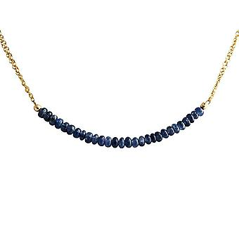 Sapphire Sapphire necklace Sapphire necklace gold plated necklace 45 cm