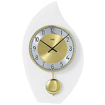 fascinating wall clock quartz with pendulum mineral glass diamond rotated dial