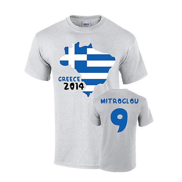 Griechenland 2014 Country Flag-T-Shirt (9 Mitroglou)