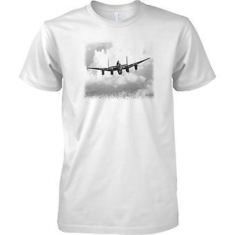 RAF Avro Lancaster Bomber Flying - WW2 Aircraft - Kids T Shirt