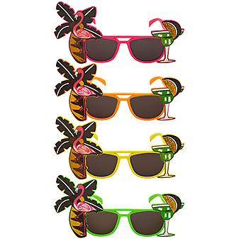 Adult Tropical Coloured Dark Lense Sunglasses Fancy Dress Accessory