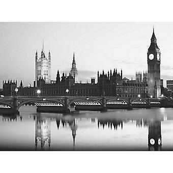 Big Ben and the Houses of Parliament Poster Print by Monochrome Gallery (31 X 23)