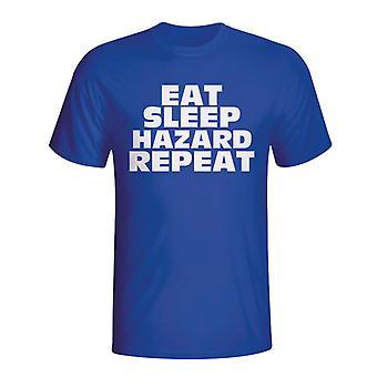 Eat Sleep Hazard Repeat T-shirt (blue)