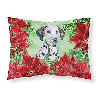 Dalmatian Puppy Poinsettas Fabric Standard Pillowcase