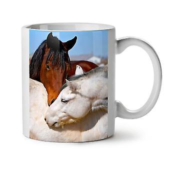 Pferd Liebe Foto Tier neue weißer Tee Kaffee Keramik Becher 11 oz | Wellcoda